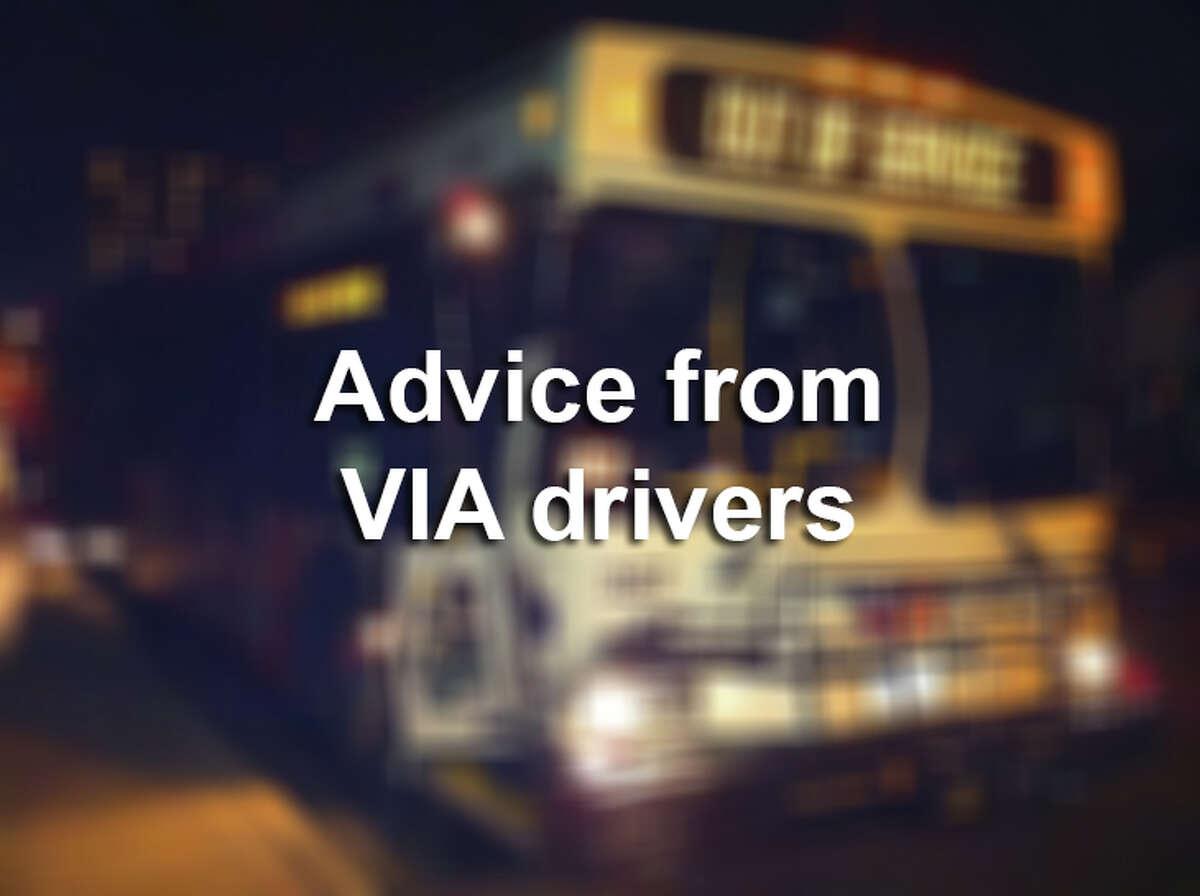 VIA bus drivers pass along bus etiquette tips.