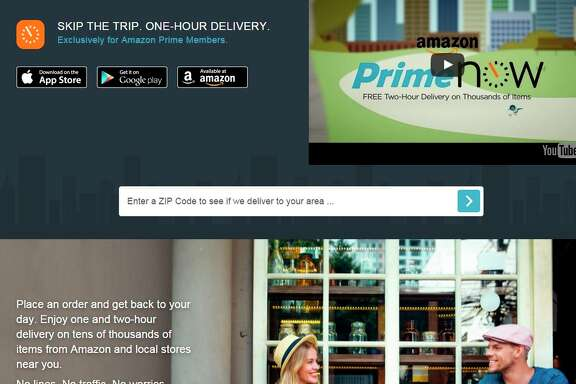 Amazon Prime Now, which just became available in the Bay Area, promises one- or two-hour delivery.