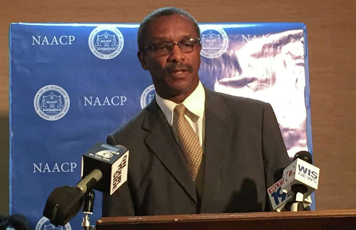 South Carolina NAACP President Lonnie Randolph speaks a news conference about the incident at Spring Valley High School, in which a student was flippedin her desk and tossed her across the classroom floor by a police officer. A reader says the officer should not have been fired.