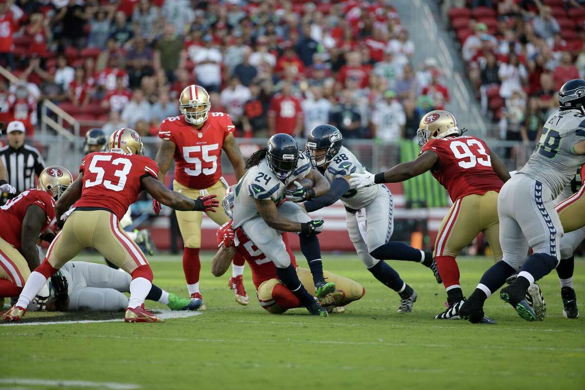 Keeping the winning formula Perhaps the most encouraging aspect of Seattle's dominant victory over San Francisco was the manner in which they got it. Thursday's performance was much more emblematic of the Seahawks winning formula of old, as Seattle ran for 176 yards, outgained the 49ers 388 to 142 and made enough big plays offensively to compliment a lockdown effort from the defense.