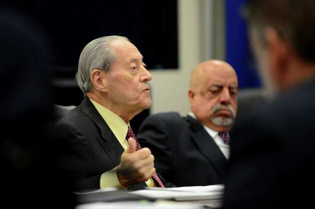 Joint Commission on Public Ethics commission member Marvin E. Jacob speaks during a JCOPE meeting Tuesday morning, Oct. 27, 2015, in Albany, N.Y. Commission member Hon. Joseph Novello is pictured at right. (Will Waldron/Times Union) Photo: Will Waldron / 00033954A