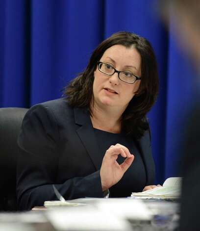 Joint Commission on Public Ethics Commission general counsel, Monica Stamm speaks during a JCOPE meeting Tuesday morning, Oct. 27, 2015, in Albany, N.Y. (Will Waldron/Times Union) Photo: Will Waldron / 00033954A