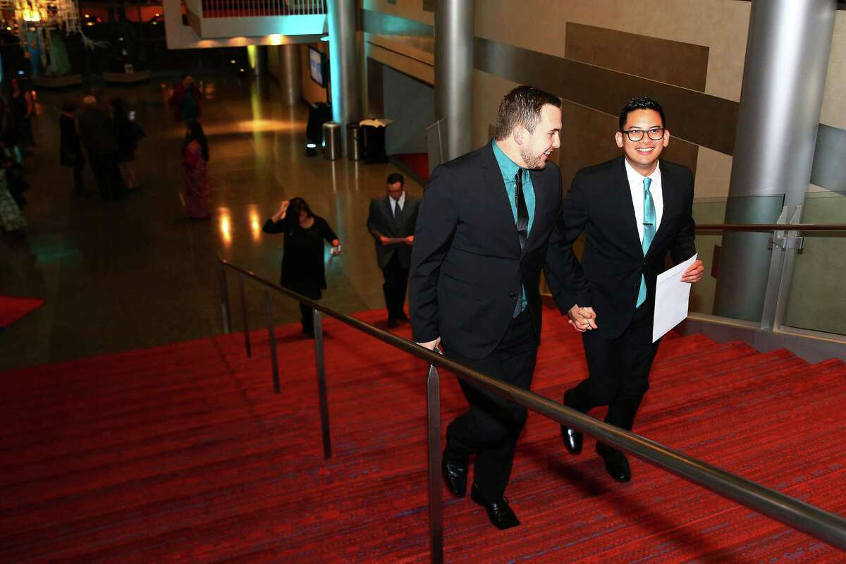Guests arrive for the seventh annual Gregory Awards, held at Marion Oliver McCaw Hall, Monday, Oct. 26, 2015. The Theater Puget Sound-produced awards show celebrates theater arts in the Seattle area.