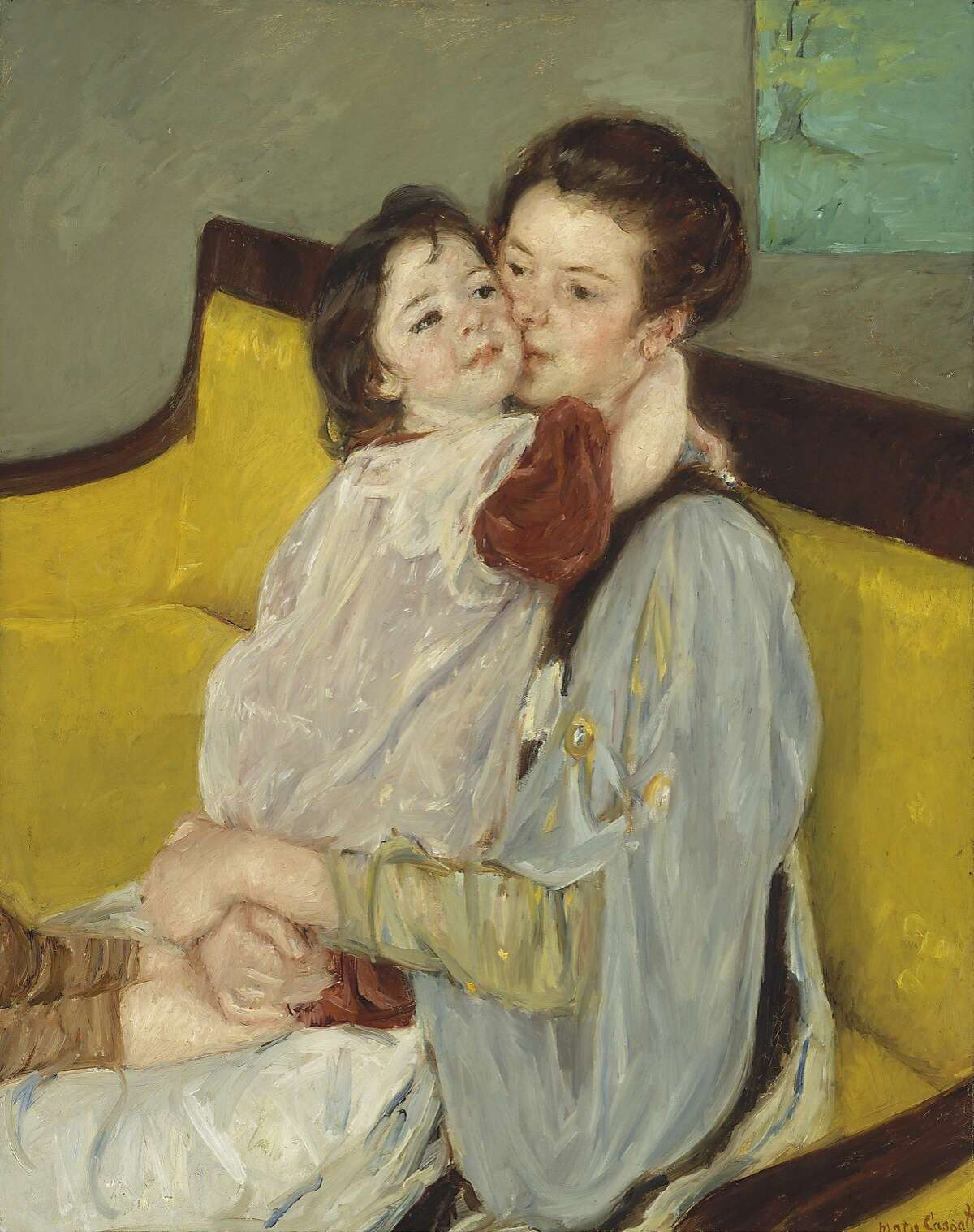 Maternal Caress (Caresse maternelle), approx. 1902, by Mary Stevenson Cassatt (American, 1844Ð1926). Oil on canvas. Museum of Fine Arts, Boston, Gift of Miss Aimee Lamb in memory of Mr. and Mrs. Horatio Appleton Lamb, 1970.252. Photograph © 2015, MFA, Boston