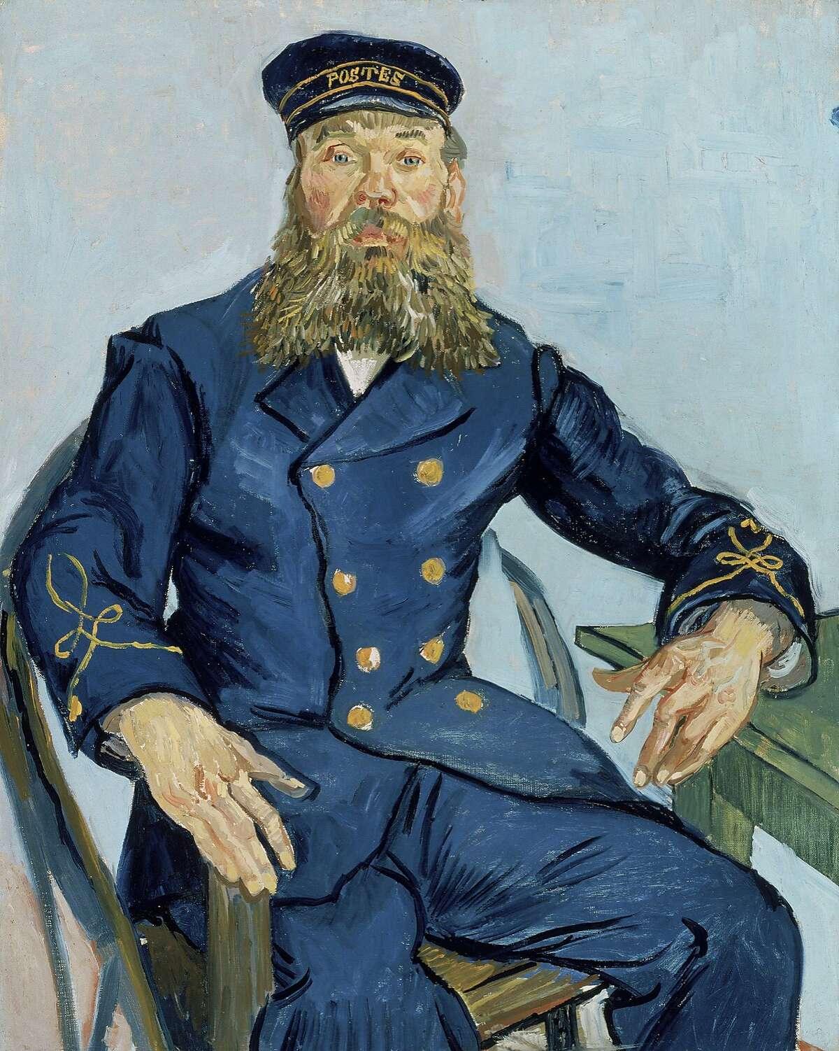 Postman Joseph Roulin, 1888, by Vincent van Gogh (Dutch, 1853Ð1890). Oil on canvas. Museum of Fine Arts, Boston, Gift of Robert Treat Paine, 2nd, 35.1982. Photograph © 2015, MFA, Boston