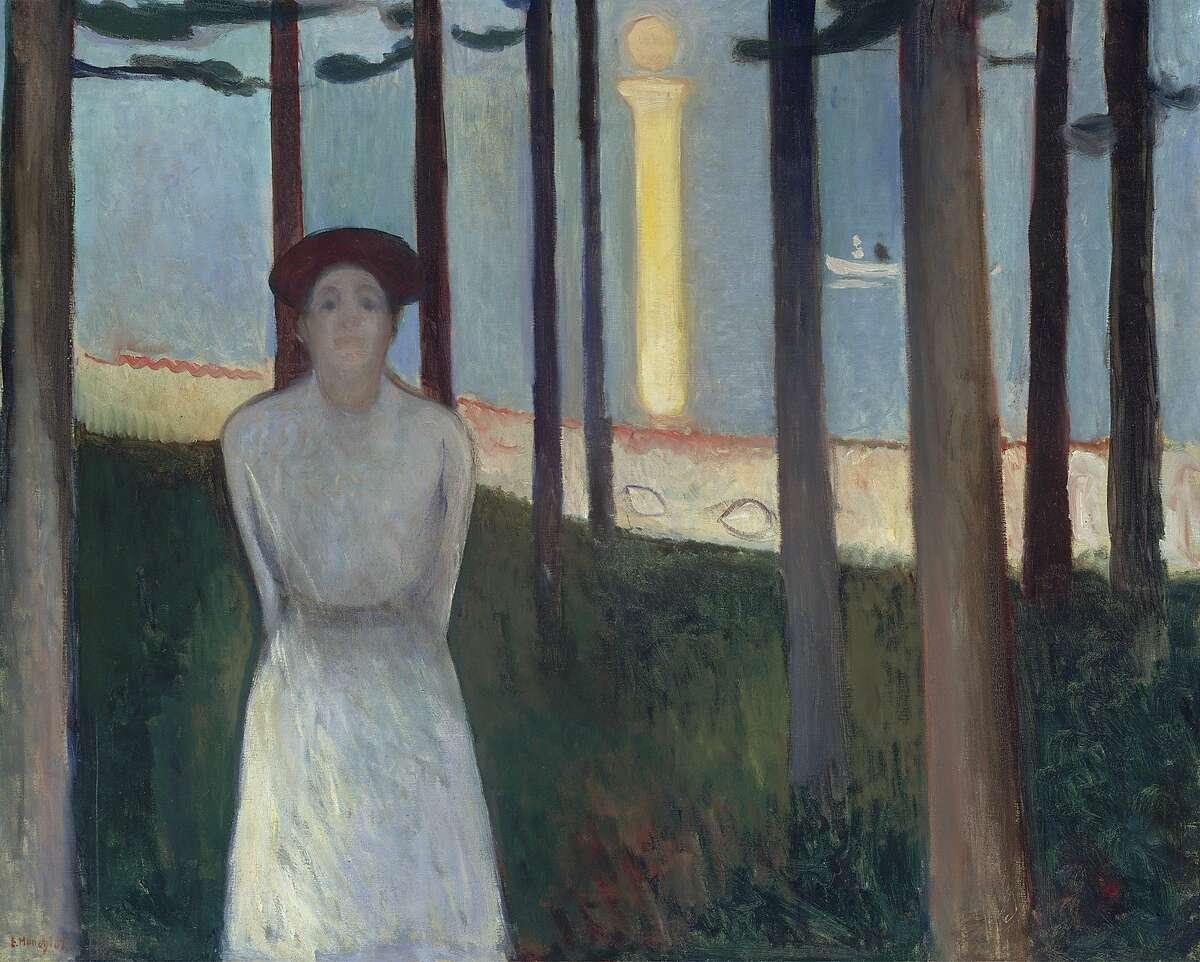 Summer Night's Dream (Summernattsdr¿m/Sommernachstraum) (The voice), 1893, by Edvard Munch (Norwegian, 1863Ð1944). Oil on canvas. Museum of Fine Arts, Boston, Ernest Wadsworth Longfellow Fund, 59.301. Photograph © 2015, MFA, Boston