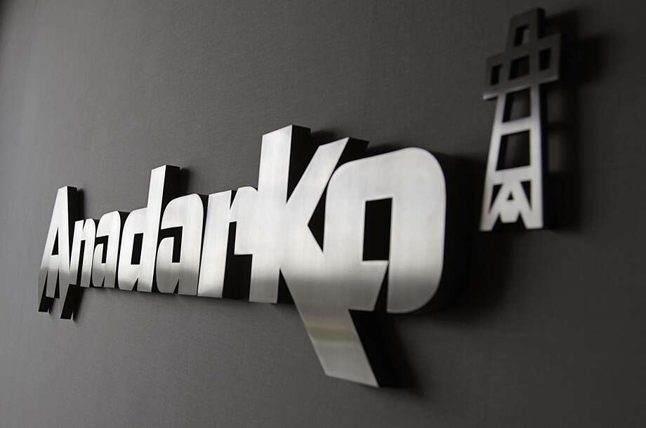 The corporate logo in a reception area at the Anadarko Petroleum campus. (James Nielsen/Houston Chronicle)