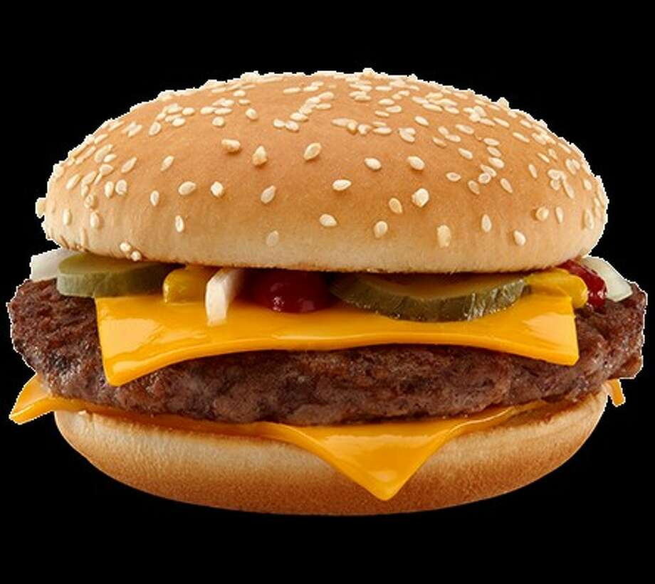 The new Quarter Pounder with Cheese from McDonald's:A 4.25-ounce all-beef patty with no fillers or extenders or helpers,  two slices of melty American cheese, raw slivered onions, tangy pickles,  mustard and ketchup, salt and pepper, on a toasted sesame seed bun.Total calories: 540. Fat grams: 28. Sodium: 1,110 mg. Carbs: 42 g. Dietary fiber: 3.What Hoffman says:McDonald's has a new way of cooking the Quarter Pounder 2.0. The patty  is grilled top and bottom at a higher temperature, which sears the meat,  seals in the moisture and produces a juicier burger. The buns are  toasted 5 seconds longer than before, so there's a little crunch to the  bite. I'd toast them another 5 seconds. I like dark-brown toasty buns  with a crispy char.But Hoffman does have one quick, 5-second change that he would make to the burger. Click here for the full review and find out.