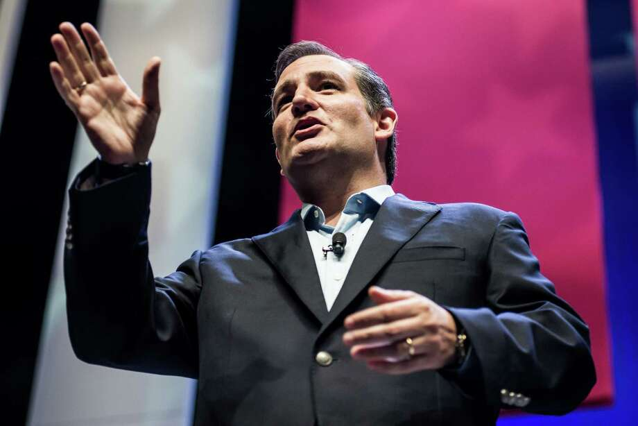 Republican presidential hopeful Sen. Ted Cruz  (R-TX) speaks to the crowd at the Heritage Action Presidential Candidate Forum September 18, 2015 in Greenville, South Carolina. Eleven republican candidates each had twenty five minutes to talk to voters Friday at the Bons Secours Wellness arena in the upstate of South Carolina. Photo: Sean Rayford, Getty / 2015 Getty Images