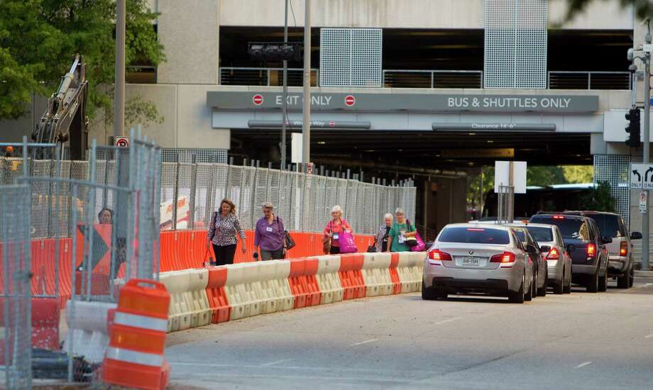 The construction around the George R. Brown Convention Center is expected to cause delays for attendees of the International Quilt Festival, which runs through Sunday. Photo: Cody Duty, Staff / © 2015 Houston Chronicle