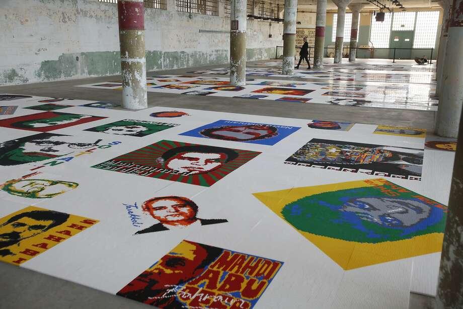 The 'Trace' installation at Alcatraz Photo: Leah Millis, The Chronicle