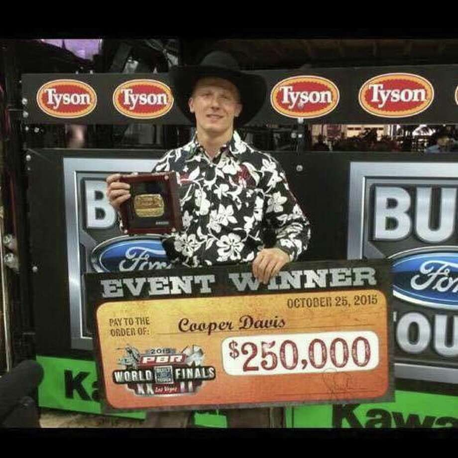 Cooper Davis, of Jasper, won a championship title and $250,000 at the 2015 Built Tough World Finals in Las Vegas. He ranks sixth in the nation. Photo: Courtesy Of Donna Baklik McDonald/Facebook