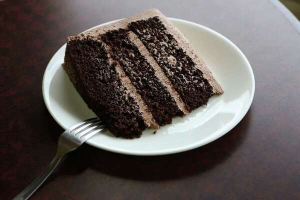 Chocolate cake from Caffe Tuti, neighborhood coffee and sandwich shop in the Jefferson-area neighborhood.