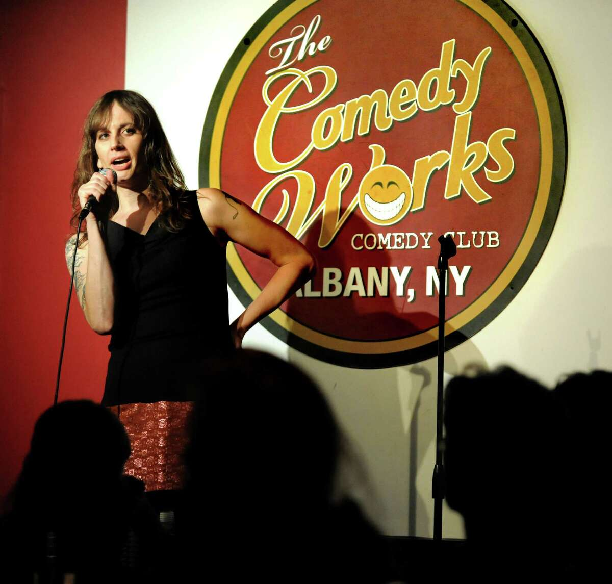 Jaye McBride, Aug. 5, 2021, at The Comedy Works in Saratoga Springs. (Cindy Schultz / Times Union)