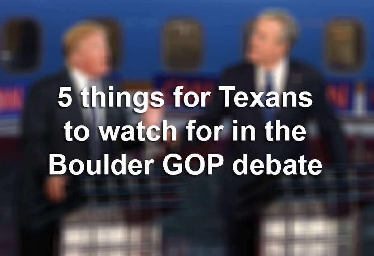 Republican presidential candidates will debate for the third time on Oct. 28, 2015. Here are five things Texans should look for.