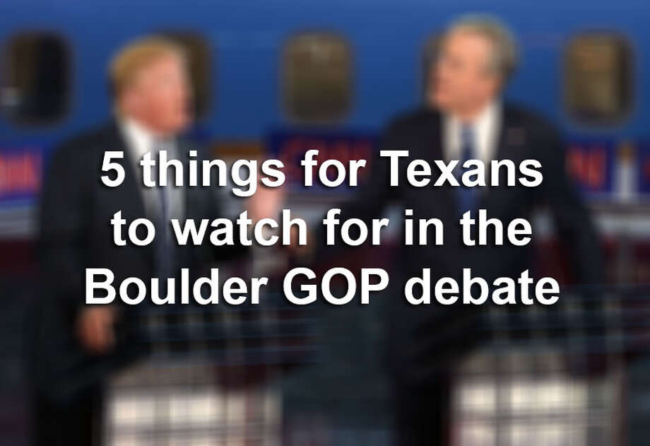 Republican presidential candidates will debate for the third time on Oct. 28, 2015. Here are five things Texans should look for. Photo: File