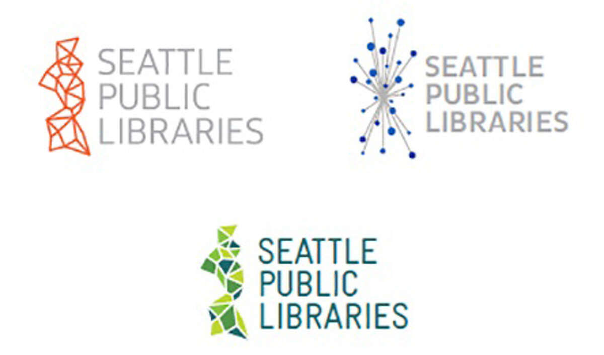 As part of the library's proposed rebrand, they are considering these three logos. The full cost of the rebound could run to $1.3 million, according to early estimates obtained from the library.