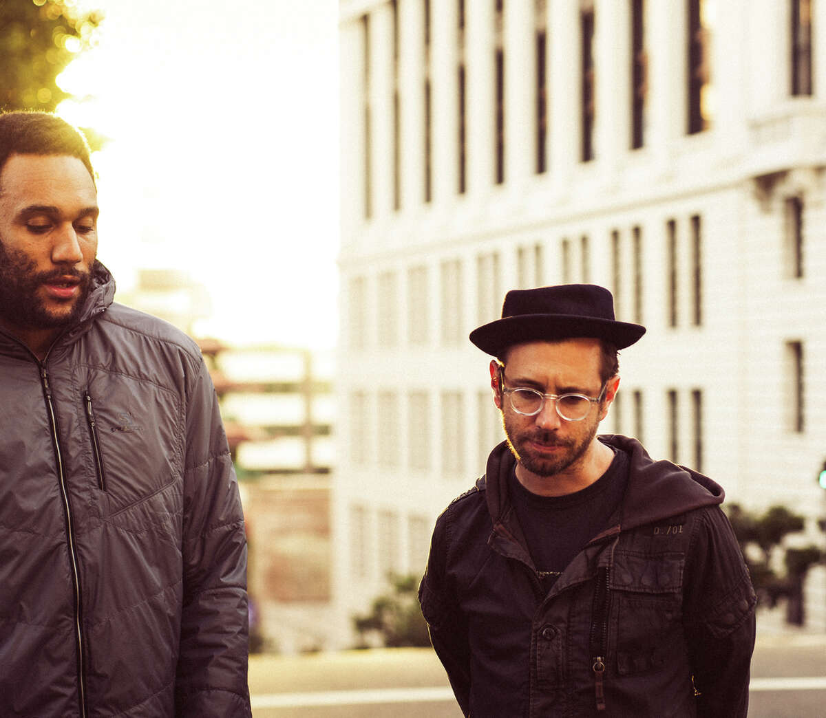 Tongo Eisen-Martin (left) is collaborating with Chris Peck the Town Crier.