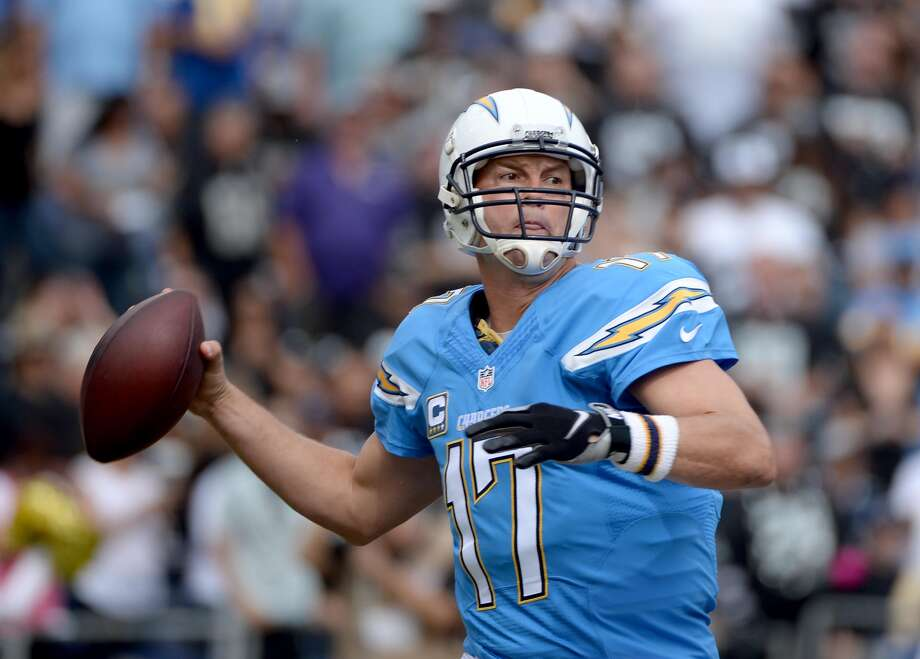 """What's the challenge of facing Chargers quarterback Phillip Rivers, a seven-time Pro Bowler?  Norton: """"We've been watching him for a long time. He's seen everything. He's been very successful. He knows what he's looking for. You can't trick him. He has a fantastic group of receivers and weapons around him, so it's going to be a real big challenge for us."""""""