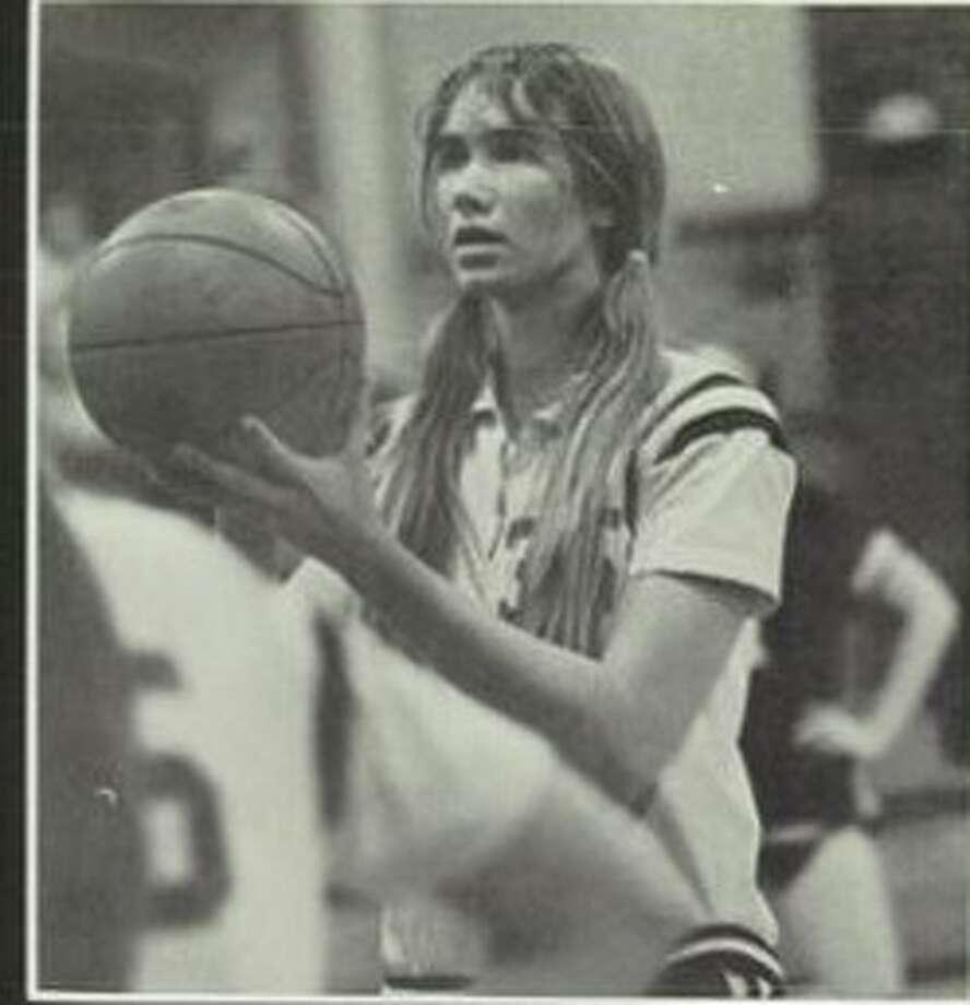 Jackie Swaim DiNardo in action for Azle High School in Azle, Texas. She graduated in 1976. Photo: Contributed Photo / Contributed Photo / News-Times Contributed