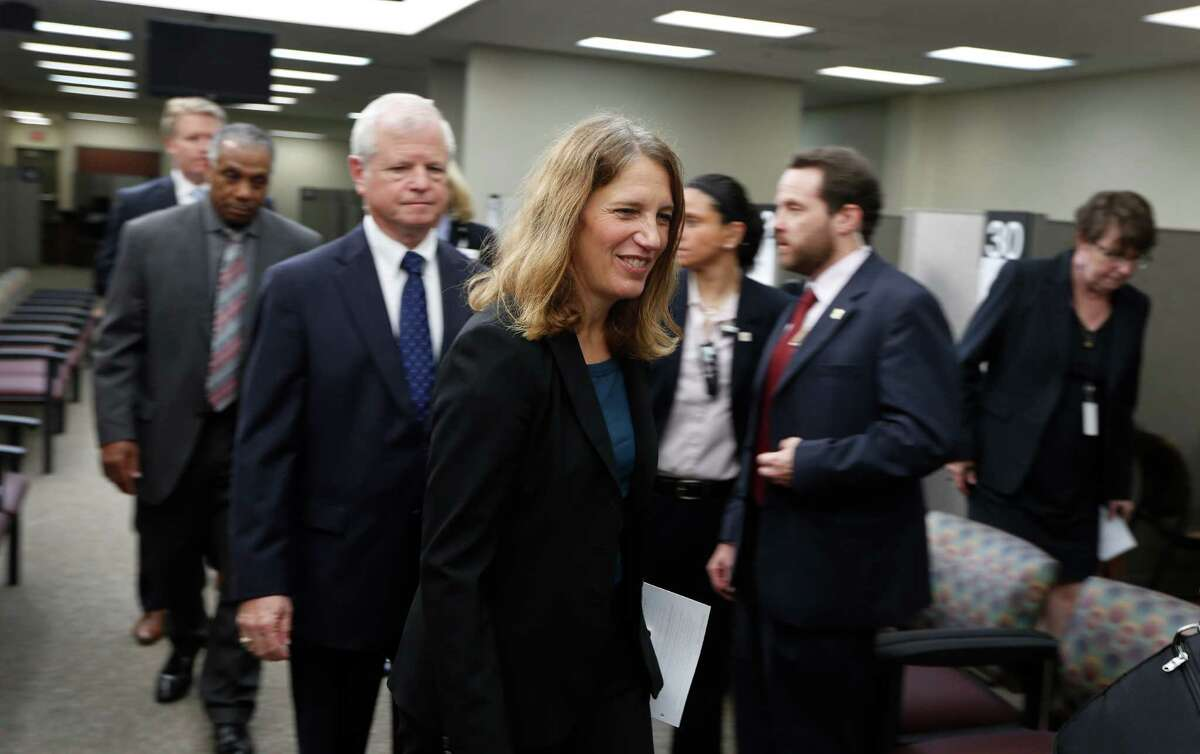 HHS Secretary Sylvia Burwell will be in Houston on Wednesday to tour a health center in advance of ACA open enrollment for the marketplace. She toured the Lois J. Moore Eligibility Center & El Franco Lee Community Health Center Wednesday, Oct. 28, 2015, in Houston. ( Steve Gonzales / Houston Chronicle )