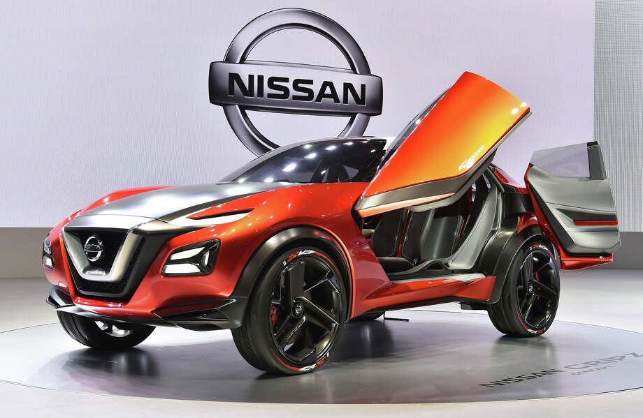 Nissan Motor displays the Nissan Gripz Concept car during a press preview at the company's booth at the Tokyo Motor Show 2015 in Tokyo on October 28, 2015. The Tokyo Motor Show kicks off October 28 with a focus on cars that drive themselves, eco-friendly technologies, and a digital-savvy generation. Photo: KAZUHIRO NOGI, AFP/Getty Images / AFP