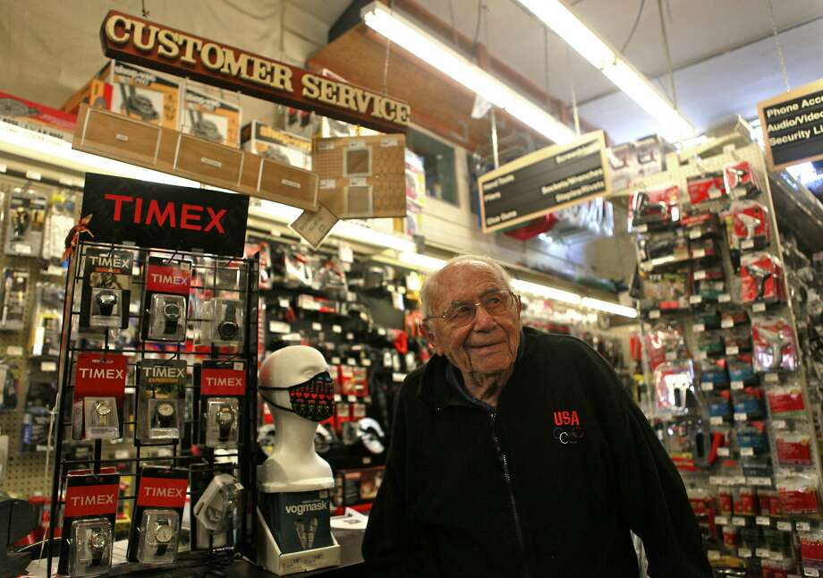 Dave Karp, founder and patriarch of Cole Hardware, inside one of his San Francisco stores in 2012. Mr. Karp died Sunday, Oct. 25, 2015, at age 99. Photo: Jill Schneider, The Chronicle