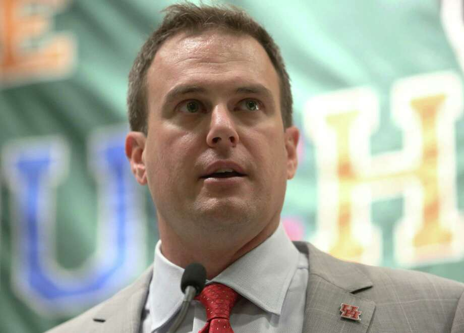 University of Houston Head Football Coach Tom Herman speaks at a meeting of the Touchdown Club of Houston Wednesday, July 29, 2015, in Houston. Jon Shapley / Houston Chronicle ) Photo: Jon Shapley, Staff / © 2015 Houston Chronicle