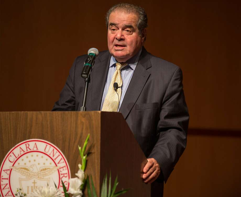 Supreme Court Justice Antonin Scalia speaks at Santa Clara University Law School's recital hall on Wednesday, Oct. 28, 2015 in Santa Clara, Calif. Photo: Nathaniel Y. Downes, The Chronicle