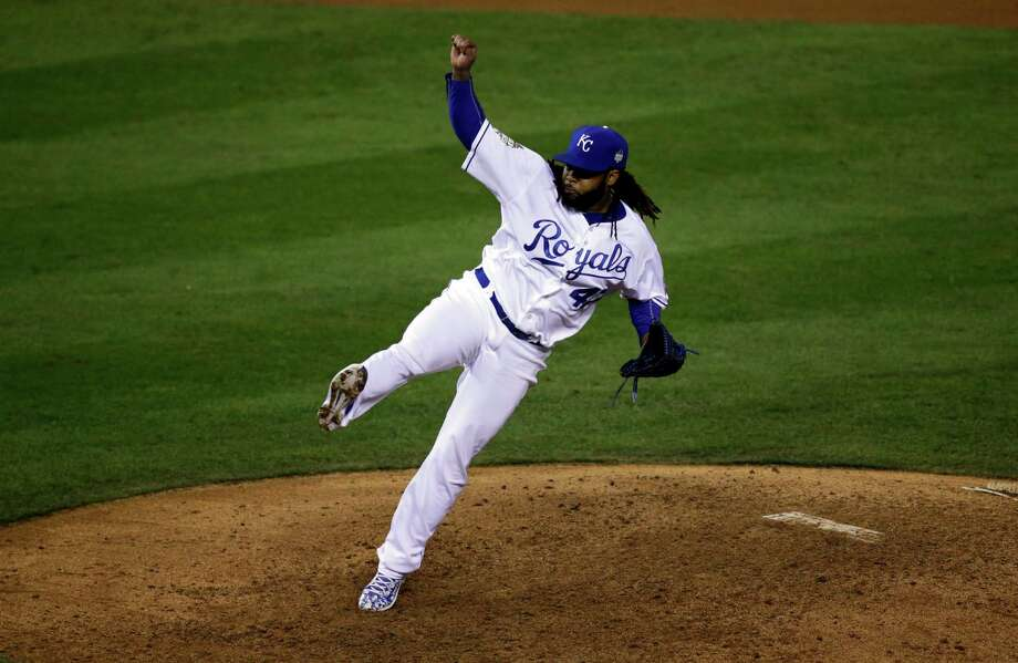 Royals starter Johnny Cueto kept the Mets' hitters off-balance, allowing just two singles for the first World Series two-hitter since Greg Maddux's in 1995. Photo: David Goldman, STF / AP