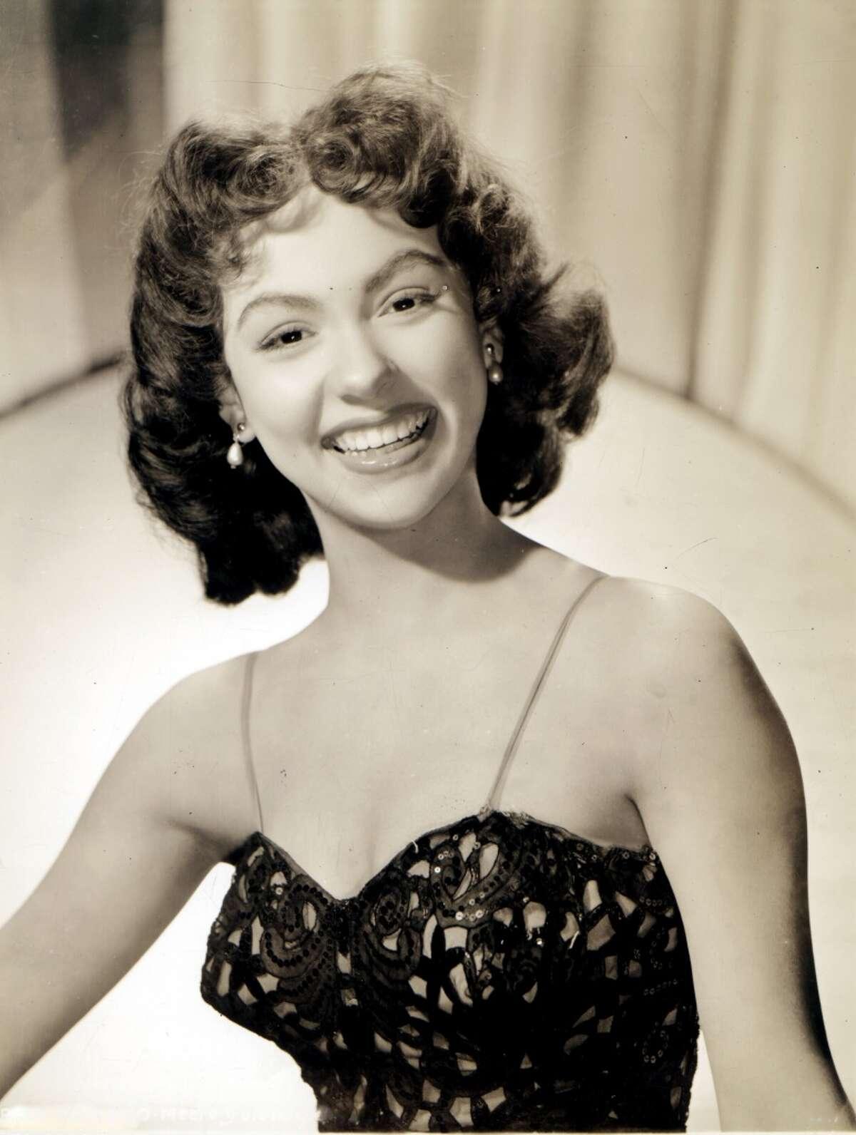 Photo of Puerto Rican actress and singer Rita Moreno posed circa 1950.