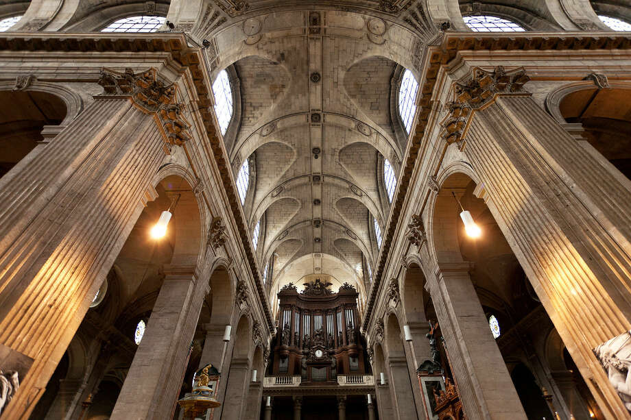 You can hear Paris' St. Sulpice Church pipe organ during free recitals on Sundays after Mass. Photo: Dominic Arizona Bonuccelli / dominic arizona bonuccelli / azfoto.com