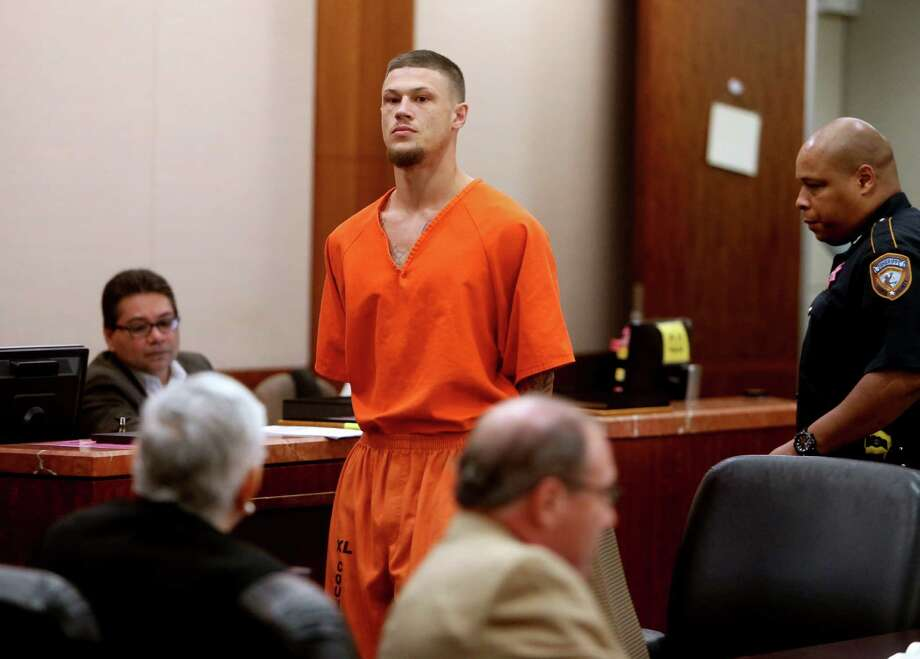 First appearance for Chaz Colt Davis, the man accused of trying to extort money from former Texans tight end Mike McFarland, in the 339th District Criminal Court at the Harris County Criminal Courts Thursday, Oct. 29, 2015, in Houston, Texas. Photo: Gary Coronado, Houston Chronicle / © 2015 Houston Chronicle