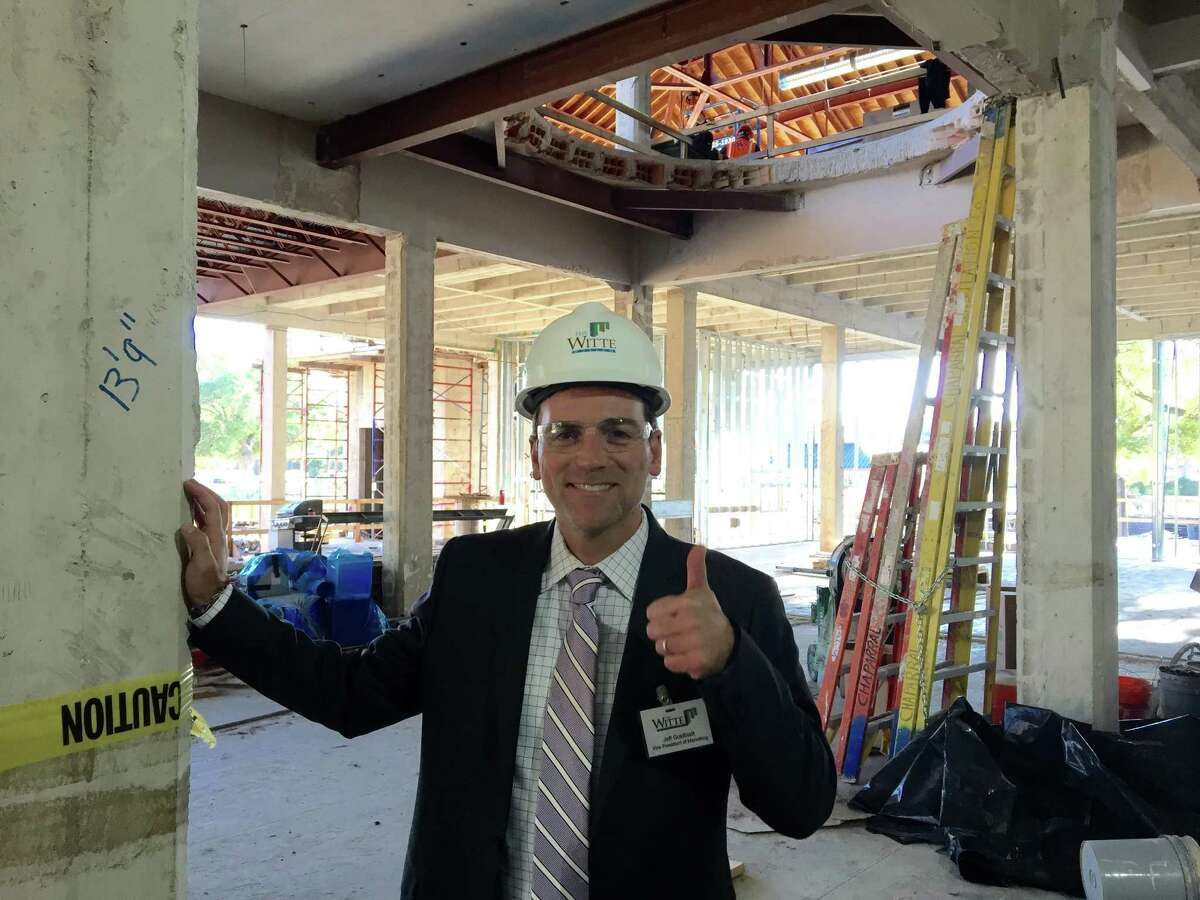 Former anchorman Jeff Goldblatt took a hard-hat tour of the New Witte after starting his new job as vice president of marketing at San Antonio's popular museum which is currently under renovation. October, 2015