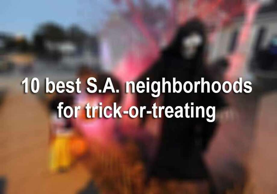 Here are the streets to hit for trick-or-treating in San Antonio. Photo: Joe Imel, File / Daily News