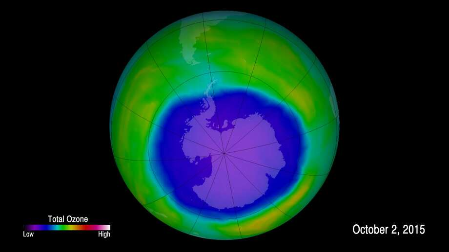 Antarctic ozone hole at near record size