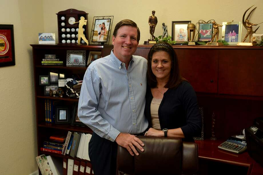 Hal G. Wychopen II, left, and his Cherie, CFO, lead Texas Saffire, a construction company that does commercial building in the Houston area and beyond.