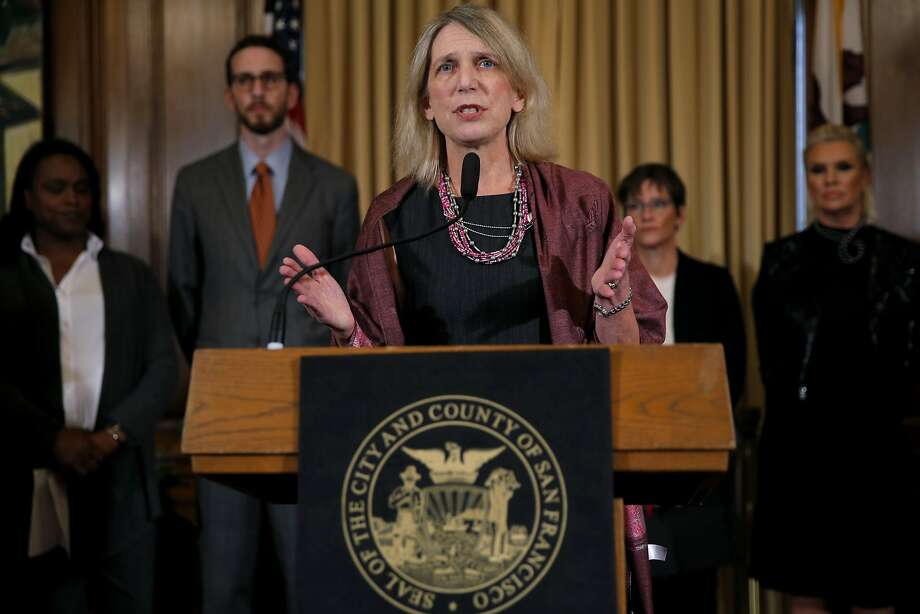 "Dr. Diane Havlir speaks during a press conference to announce additional funds    toward the ""get to zero"" HIV/AIDS initiative at City Hall in San Francisco, California, on Thursday, Oct. 29, 2015. Photo: Connor Radnovich, The Chronicle"