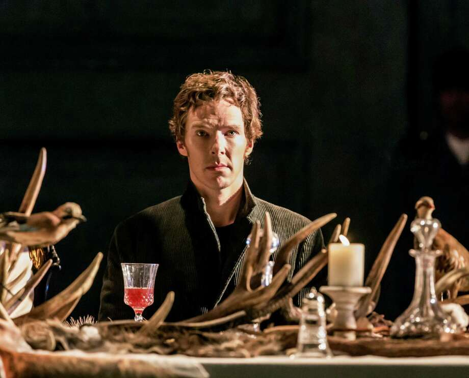 """-- PHOTO MOVED IN ADVANCE AND NOT FOR USE - ONLINE OR IN PRINT - BEFORE AUG. 30, 2015. -- An undated handout photo of Benedict Cumberbatch in """"Hamlet."""" In the new production of """"Hamlet,"""" Cumberbatch spends much of the evening in a state of such self-evisceration that you can understand why the prospect of an eternal sleep is a comfort. (Johan Persson via The New York Times) -- NO SALES; FOR EDITORIAL USE ONLY WITH STORY SLUGGED THEATER LONDON ADV30. ALL OTHER USE PROHIBITED. --  ORG XMIT: XNYT77 Photo: JOHAN PERSSON / JOHAN PERSSON"""