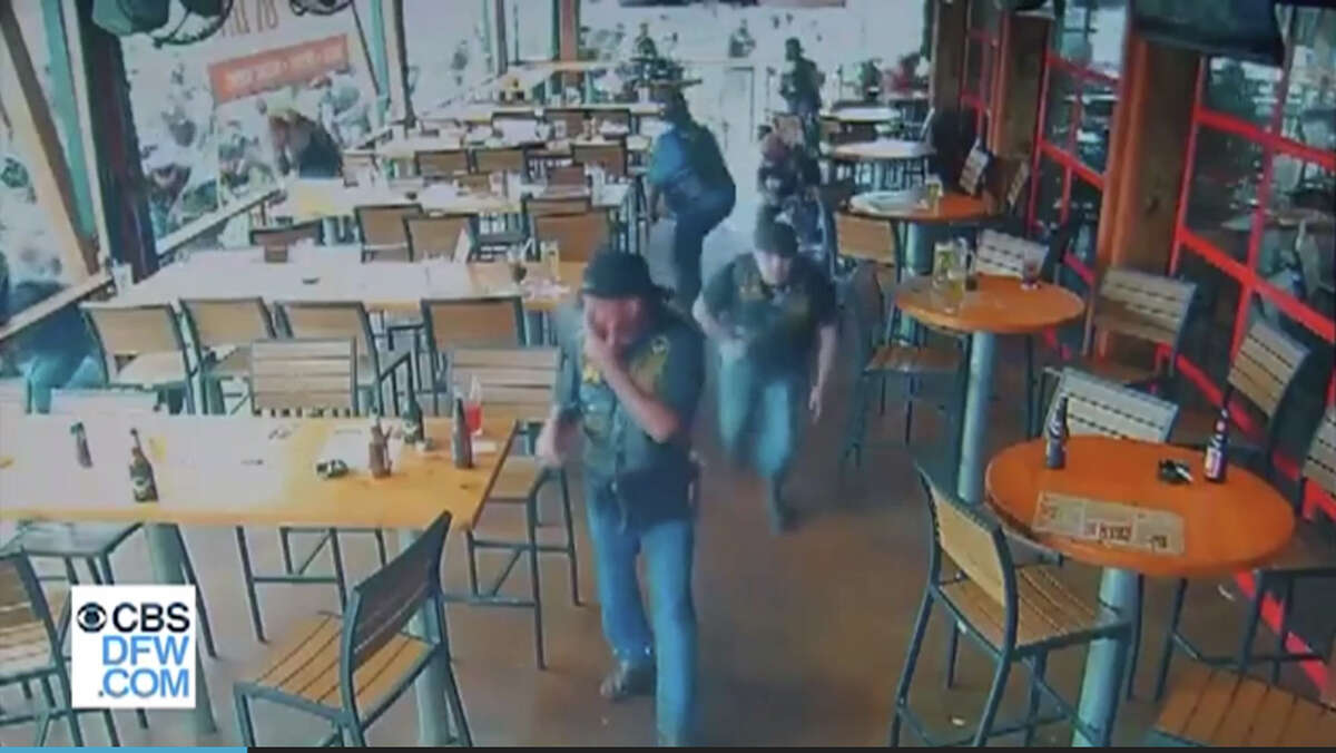 Surveillance video recorded by Twin Peaks and released by multiple media organizations shows the chaos at the restaurant when the violence was at its worst.