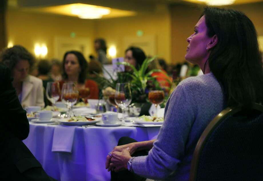 Denise Brown sits at her seat before taking the stage to discuss domestic violence during a luncheon hosted by CORA (Community Overcoming Relationship Abuse) to highlight Domestic Violence Awareness Month at the San Francisco Airport Marriott Waterfront Oct. 29, 2015 in Burlingame, Calif. Denise Brown, the sister of the late Nicole Brown Simpson, the ex-wife of professional football player O.J. Simpson, was the keynote speaker at the event. Photo: Leah Millis, The Chronicle