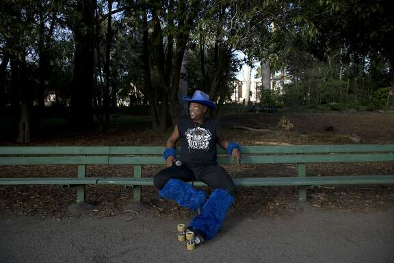 "David Miles, Jr. also known as The Godfather of Skate, sits on a park bench near the ""Skatin' Place"" at Golden Gate Park in San Francisco, Calif. on Sunday, October 25, 2015. Regulars of over thirty years show up every Sunday to skate and socialize. Miles came to San Francisco in 1979 and said he has missed about 10 Sundays since."