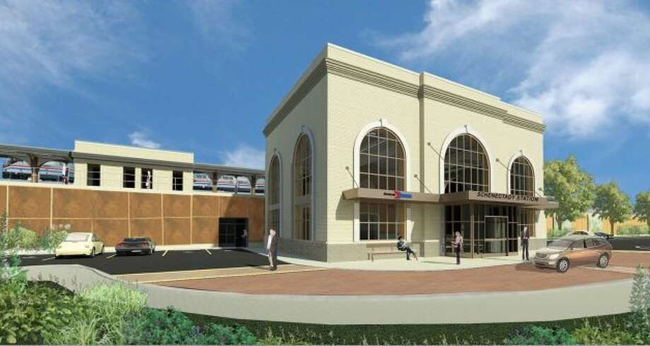 A rendering shows the new Schenectady train station. (Provided by the state Department of Transportation)