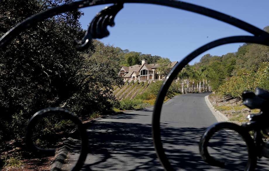 Several of the homeowners reported as water wasters by the East Bay Municipal Utility District are behind an iron gate at the top of a hill, in Alamo, Calif. as seen on Thurs. October 29, 2015. Photo: Michael Macor, The Chronicle