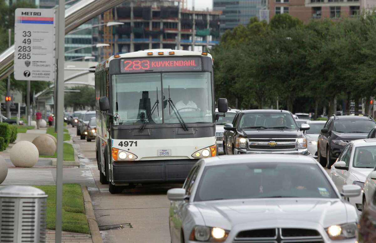 Easy ride in Take McCue Street into the Galleria area for quicker access to parking near Nordstrom.