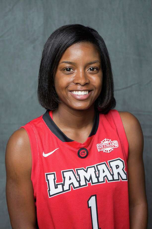 Adesha Collins, #1. Position: G Height: 5-2 Class: Senior Hometown: Anniston, Ala. Photo: Clem T. Webb, Courtesy Of Lamar University Athletics / ©Clem15