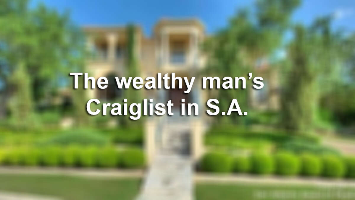 The wealthy live a life apart and even have their own version of Craigslist. Here's what you could buy in S.A. if you only had the cash.