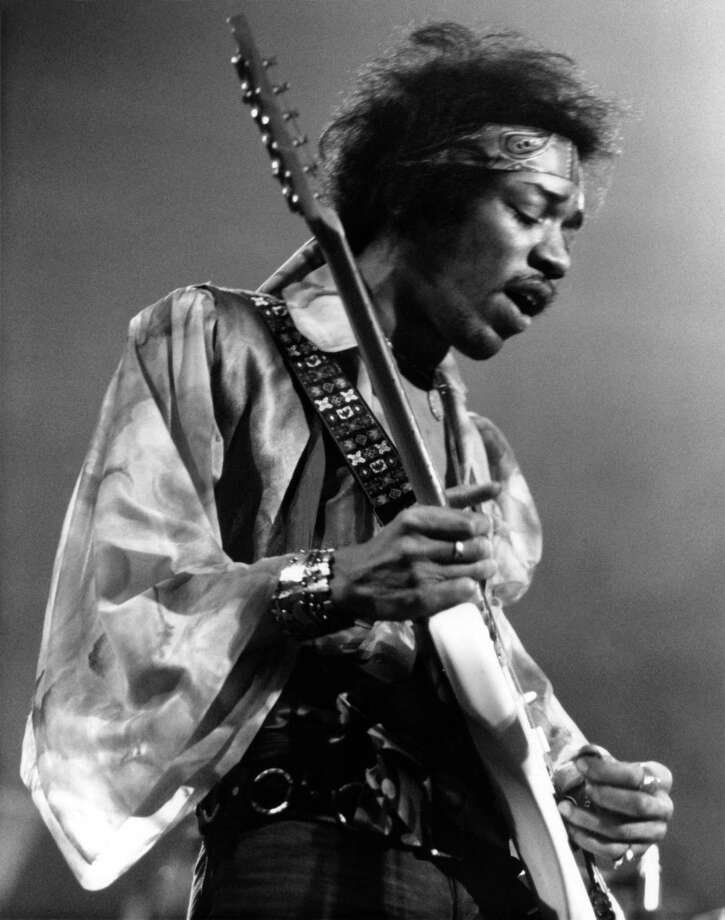 Jimi Hendrix, 1942-1970. Keep clicking to see what he, and other rock legends, would look like if they were still alive today. Photo: David Redfern, Getty Images