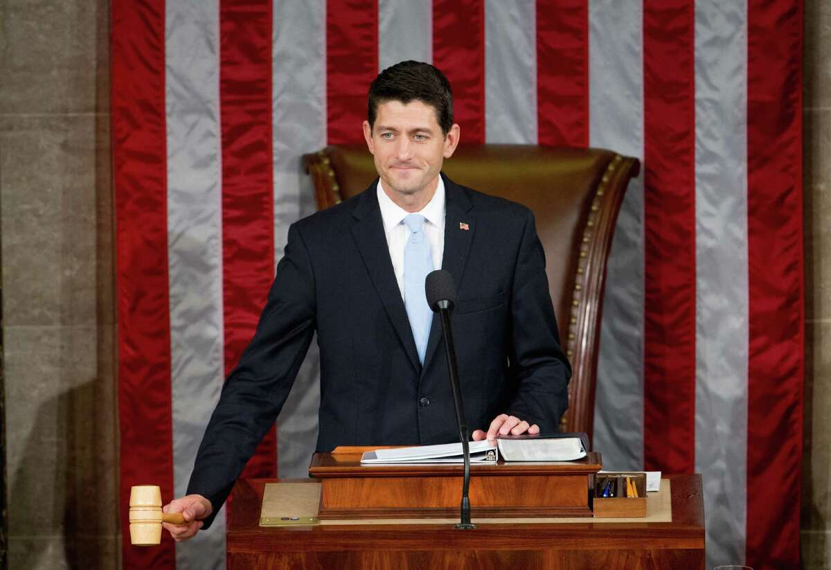 Newly elected House Speaker Paul Ryan of Wis., gavels in the House Chamber on Capitol Hill in Washington, Thursday, Oct. 29, 2015. Republicans rallied behind Ryan to elect him the House's 54th speaker on Thursday as a splintered GOP turned to the youthful but battle-tested lawmaker to mend its self-inflicted wounds and craft a conservative message to woo voters in next year's elections. (AP Photo/Andrew Harnik)