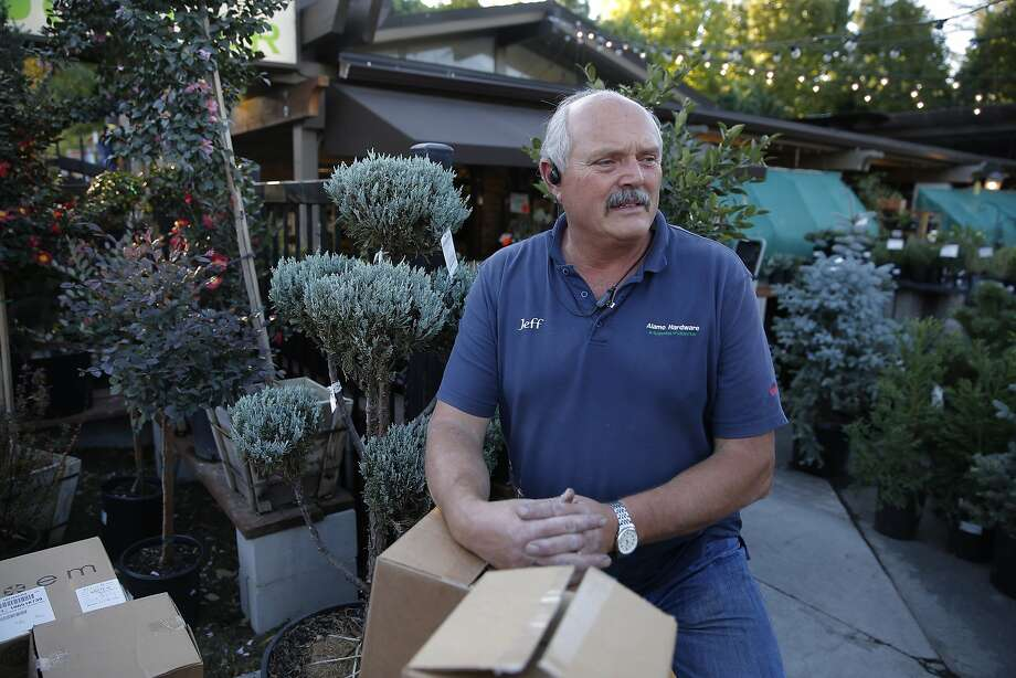 Jeff West the supervisor of the Ace Hardware Garden Centerin in Alamo, Calif., comments on the policy of releasing of names of East Bay Municipal Utility District water wasters, as seen on Thurs. October 29, 2015. Photo: Michael Macor, The Chronicle